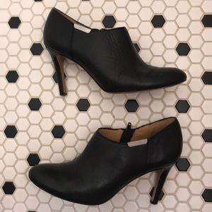 Coach size 8 black leather bootie.